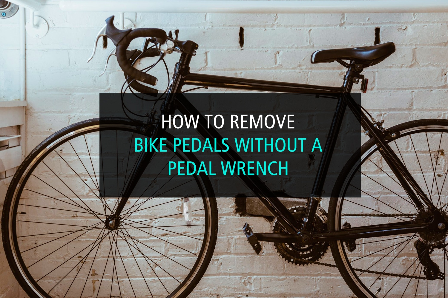 How to remove bike pedals without a pedal wrench